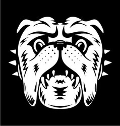 White Bulldog Face vector image