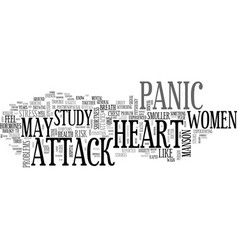 Women at risk of heart stroke due to panic attack vector