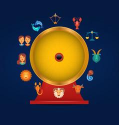 zodiac signs circle game vector image