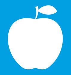 apple icon white vector image