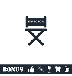 Director chair icon flat vector image