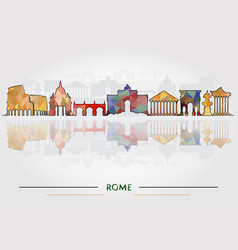 historic buildings of rome vector image vector image