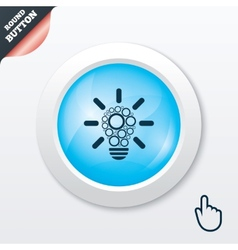 Light lamp sign icon Bulb with circles symbol vector image