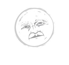 Moon Face 1 vector image
