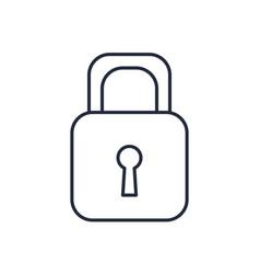 padlock security close privacy lock vector image