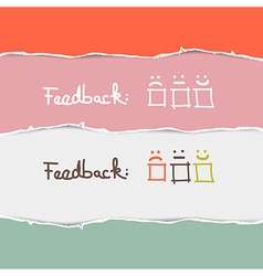 Retro Torn Paper Feedback Background Template vector image