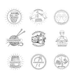 Sketch Handmade Label vector image