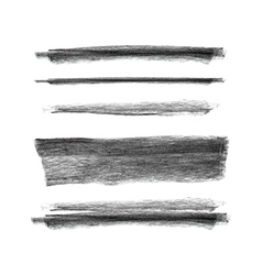 Collection of hand drawn chalk marks texture vector image vector image