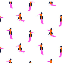 simple neon color exotic bird silhouettes seamless vector image