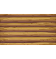 An empty wooden board vector image vector image