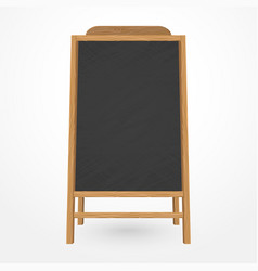wooden blackboard cafe menu vector image vector image