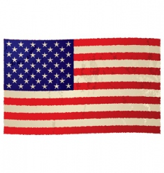 usa flag grunge flag vector image vector image