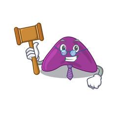 A wise judge adrenal mascot design wearing vector