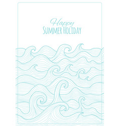 abstract sea background for your design vector image
