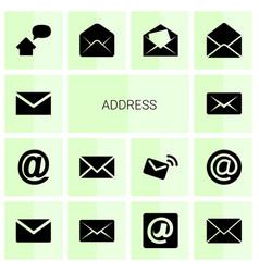 Address icons vector