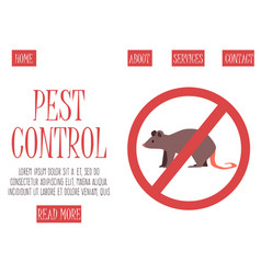Anti pest sign with a funny cartoon mouse vector