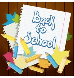 Back to School Design element vector image