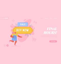 big sale promo campaign internet purchase vector image