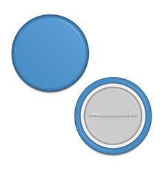 blank blue badge vector image