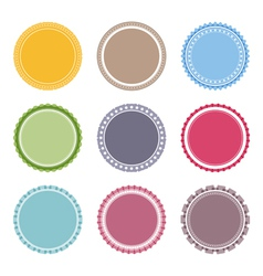 Blank Round Labels vector
