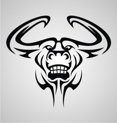 Bulls Head Tattoo vector image