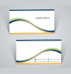 Business card simple template with stripes vector