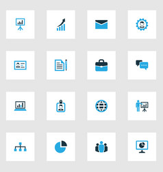 Business colorful icons set collection local vector