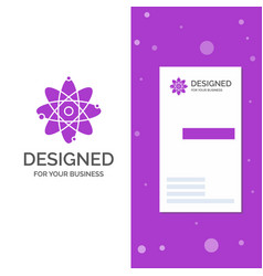 business logo for atom nuclear molecule chemistry vector image