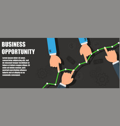 business opportunity success concept symbol vector image