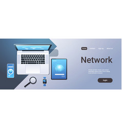 cloud computing technology network sync concept vector image