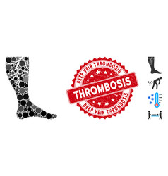 Collage deep vein thrombosis icon with grunge deep vector