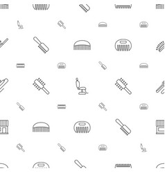 Comb icons pattern seamless white background vector