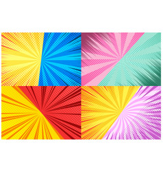 Comic backgrounds composition vector