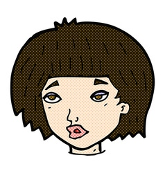 comic cartoon bored looking woman vector image