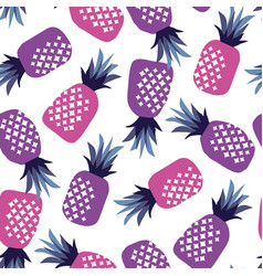 concept pink and ultraviolet pineapple vector image