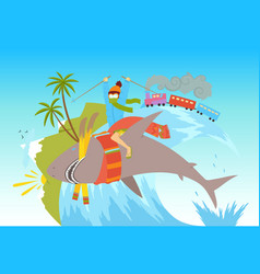 concept summer vacation vector image