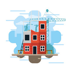 construction zone concept vector image