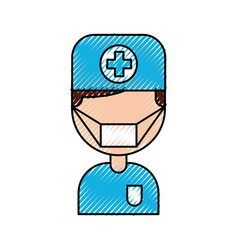 doctor avatar character icon vector image