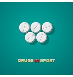 Drugs in sport vector