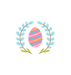 easter egg flat icon vector image