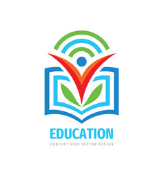 education logo template design element learning vector image