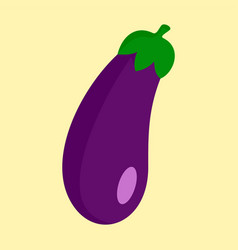 eggplant icon flat style vector image