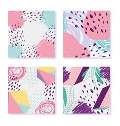 figure geometric decoration memphis 80s 90s style vector image