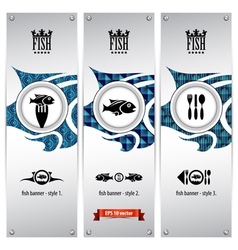 Fish banners vector