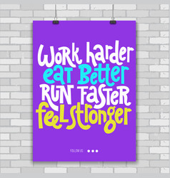 fitness motivational quotes vector image