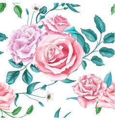 Flower rose seamless pattern vector