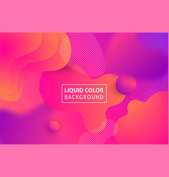 fluid shapes purple background vector image