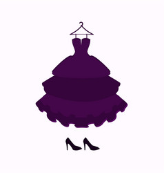 For a ball dressholiday clothing vector