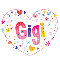 Gigi girls name vector