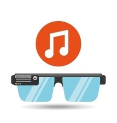Glasses technology music application media vector